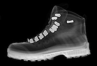An X-ray of a hiking boot.