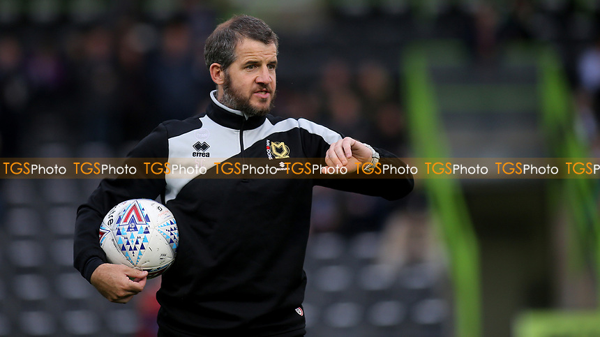 MK Dons Assistant Manager, Stevie Crawford during Forest Green Rovers vs MK Dons, Carabao Cup Football at The New Lawn on 8th August 2017