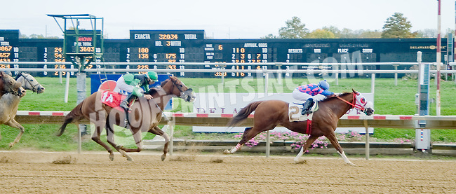 Laughter winning at Delaware Park on 10/18/12