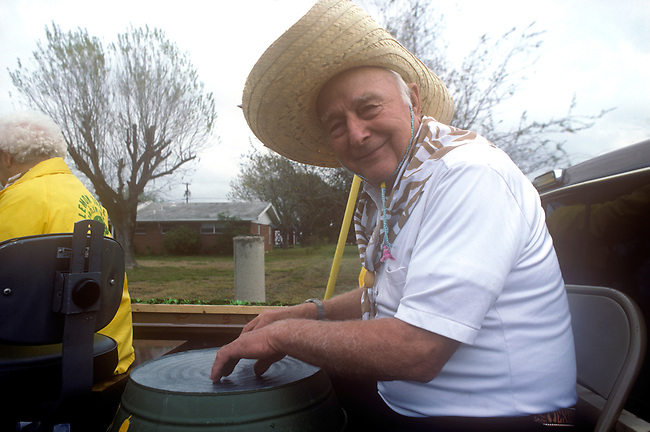 Senior Man on Float, Citrus Fiesta, Mission, Texas
