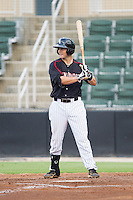 Brett Austin (10) of the Kannapolis Intimidators steps up to the plate against the Charleston RiverDogs at CMC-NorthEast Stadium on June 27, 2014 in Kannapolis, North Carolina.  The Intimidators defeated the RiverDogs 6-5.  (Brian Westerholt/Four Seam Images)