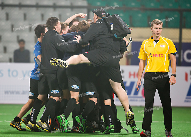 Mens Hockey World league Final Delhi 2014<br /> Day 4, 15-01-2014<br /> New Zealand v Argentina<br /> New Zealand defeat Argentina in Penalty shoot out<br /> Photo: Grant Treeby / treebyimages