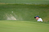 Jonathan Byrd (USA) hits from the trap on 1 during day 2 of the Valero Texas Open, at the TPC San Antonio Oaks Course, San Antonio, Texas, USA. 4/5/2019.<br /> Picture: Golffile | Ken Murray<br /> <br /> <br /> All photo usage must carry mandatory copyright credit (© Golffile | Ken Murray)