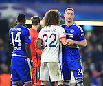 Chelsea's Gary Cahill hugs PSG's David Luiz at the final whistle<br /> <br /> - UEFA Champions League - Chelsea vs Paris Saint Germain - Stamford Bridge - London - England - 9th March 2016 - Pic David Klein/Sportimage