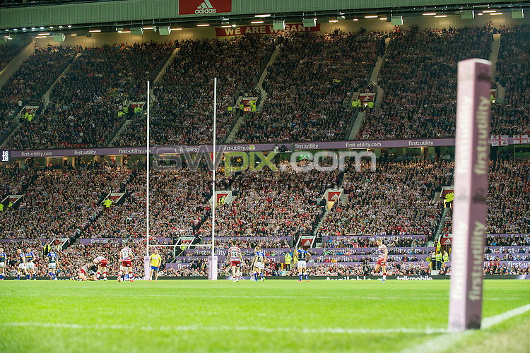 Picture by Allan McKenzie/SWpix.com - 10/10/2015 - Rugby League - First Utility Super League Grand Final - Leeds Rhinos v Wigan Warriors - Old Trafford, Manchester, England -