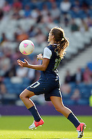 Glasgow, Scotland - July 25, 2012: Tobin Heath of the US women's national team during USA's 4-2 win over France.
