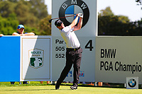 Adrian Otaegui tees off from the 4th tee during the BMW PGA Golf Championship at Wentworth Golf Course, Wentworth Drive, Virginia Water, England on 26 May 2017. Photo by Steve McCarthy/PRiME Media Images.