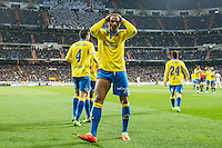 Prince Boateng of UD Las Palmas celebrates after scoring a goal during the match of Spanish La Liga between Real Madrid and UD Las Palmas at  Santiago Bernabeu Stadium in Madrid, Spain. March 01, 2017. (ALTERPHOTOS / Rodrigo Jimenez) /NORTEPHOTOmex