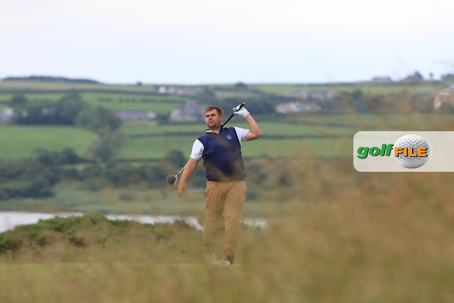 Gary Collins (Rosslare) on the 18th tee during Round 2 of the North of Ireland Amateur Open Championship 2019 at Portstewart Golf Club, Portstewart, Co. Antrim on Tuesday 9th July 2019.<br /> Picture:  Thos Caffrey / Golffile<br /> <br /> All photos usage must carry mandatory copyright credit (© Golffile   Thos Caffrey)