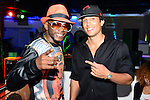 HOLLYWOOD, FL - NOVEMBER 13: Urban Mystic and YNIQ pose for picture before performing live with a Bigg D. live band at Hollywood Live at Hollywood Live on Thursday November 13, 2014 in Coral Gables, Florida. (Photo by Johnny Louis/jlnphotography.com)