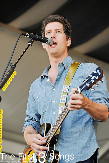 Kevin Griffin of Better Than Ezra performs during the New Orleans Jazz & Heritage Festival in New Orleans, LA on May 6, 2011.