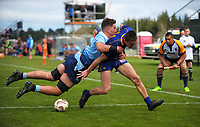 Action from the rugby match between Otago and Northland in the Jack Hobbs Memorial Under-19 Rugby Tournament at Owen Delany Park in Taupo, New Zealand on Wednesday, 13 September 2012. Photo: Dave Lintott / lintottphoto.co.nz