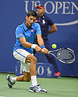 FLUSHING NY- AUGUST 29: Novak Djokovic Vs Jerzy Janowicz on Arthur Ashe Stadium at the USTA Billie Jean King National Tennis Center on August 29, 2016 in Flushing Queens. Photo by Larry Marano © 2016