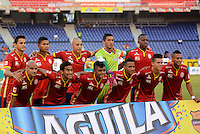 BARRANQUIILLA -COLOMBIA-18-04-2015. Jugadores del Uniautonoma posan para una foto previo al encuentro con Independiente Medellin  por la fecha 16 de la Liga Aguila I 2015 jugado en el estadio Metropolitano de la ciudad de Barranquilla./ Players of Uniautonoma pose to a photo prior the match against Independiente Medellin for the 16th date of the Aguila League I 2015 played at Metropolitano stadium in Barranquilla city.  Photo: VizzorImage/ Alfonso Cervantes /Cont