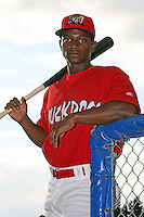 July 3, 2009:  D'Marcus Ingram of the Batavia Muckdogs before a game at Dwyer Stadium in Batavia, NY.  The Muckdogs are the NY-Penn League Short-Season Class-A affiliate of the St. Louis Cardinals.  Photo By Mike Janes/Four Seam Images