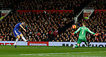 Nemanja Matic of Chelsea blasts his shot high when through one on one with David De Gea of Manchester United - English Premier League - Manchester Utd vs Chelsea - Old Trafford Stadium - Manchester - England - 28th December 2015 - Picture Simon Bellis/Sportimage