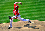 29 May 2011: Washington Nationals pitcher Tyler Clippard in action against the San Diego Padres at Nationals Park in Washington, District of Columbia. The Padres defeated the Nationals 5-4 to take the rubber match of their 3-game series. Mandatory Credit: Ed Wolfstein Photo