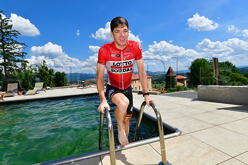 July 17th 2017, Le Puy en Velay, France;  ROELANDTS Jurgen (BEL) Rider of Team Lotto - Soudal jumps into the hotel pool during rest day 2 of the 104th edition of the 2017 Tour de France cycling race in Le Puy-En-Velay