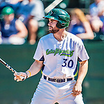 5 September 2016: Vermont Lake Monster catcher Nick Collins at bat as the designated hitter against the Lowell Spinners at Centennial Field in Burlington, Vermont. The Lake Monsters defeated the Spinners 9-5 to close out their 2016 NY Penn League season. Mandatory Credit: Ed Wolfstein Photo *** RAW (NEF) Image File Available ***