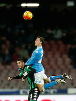 Napoli's Vlad Chireches during the  italian serie a soccer match,between SSC Napoli and Sassuolo    at  the San  Paolo   stadium in Naples  Italy , January 17, 2016