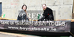 Mary Hughes and Ross Kenny from Boyne Boats at the Drogheda Maratime Festival. Photo:Colin Bell/pressphotos.ie