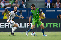 Carson, CA - Saturday July 29, 2017: Jelle Van Damme, Will Bruin during a Major League Soccer (MLS) game between the Los Angeles Galaxy and the Seattle Sounders FC at StubHub Center.