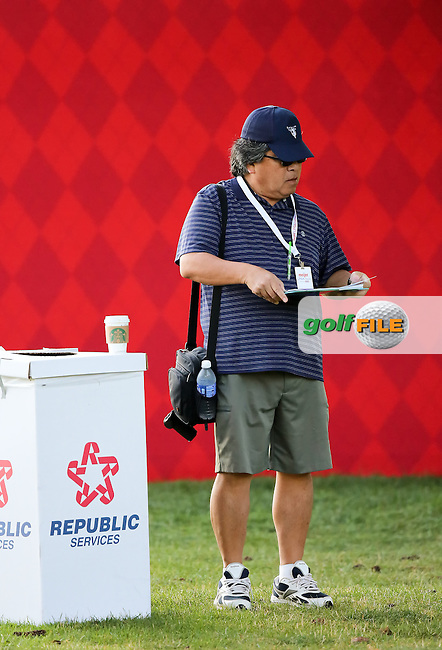 24JUL15  Japanese golf writer Sensuke Fuke during Friday's Second Round of The Meijer LPGA Classic at The Blythefield Country Club in Belmont, Michigan. (photo credit : kenneth e. dennis/kendennisphoto.com)