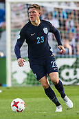 June 19th 2017, Kielce, Poland; UEFA European U-21 football championships, England versus Slovakia; Alfie Mawson (ENG) brings the ball forward
