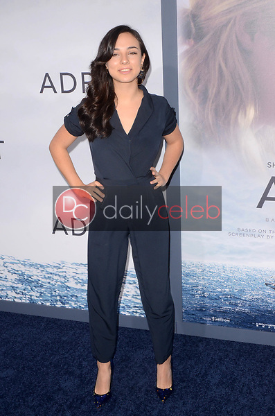 "Fiona Palomo<br /> at the ""Adrift"" World Premiere, Regal Cinemas L.A. Live, Los Angeles, CA 05-23-18<br /> David Edwards/DailyCeleb.com 818-249-4998"