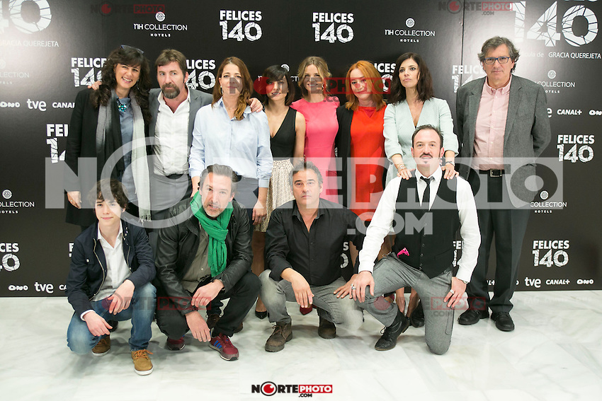 "Crew of the movie attend the Presentation of ""Happy 140"" (Felices 140) Movie at Eurobuilding Hotel, Madrid,  Spain. April 07, 2015.(ALTERPHOTOS/)Carlos Dafonte) /NORTEphoto.com"