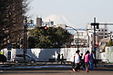 Winter views of Mt Fuji from Tokyo