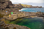 The Olivine Pools on the North Shore of West Maui, HI, USA