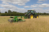17.7.2020 Contractors mowing grass for hay<br />  ©Tim Scrivener Photographer 07850 303986<br />      ....Covering Agriculture In The UK.