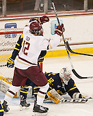 Alex Tuch (BC - 12) - The Boston College Eagles defeated the visiting Merrimack College Warriors 2-1 on Wednesday, January 21, 2015, at Kelley Rink in Conte Forum in Chestnut Hill, Massachusetts.