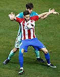 Atletico de Madrid's Yannick Ferreira Carrasco (f) and FC Barcelona's Sergi Roberto during Spanish Kings Cup semifinal 1st leg match. February 01,2017. (ALTERPHOTOS/Acero)