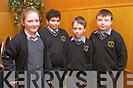 Aoife Walsh, Youis Walsh, Alex Kapp and Conor Walsh from Gaelscoil Naomh Aogain  Castleisland at the Tralee Credit Union Primary Schools Quiz, held at Ballyroe Heights Hotel on Sunday