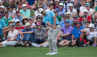 Adam Scott of Australia in action during his fourth round at the Emirates Australian Open Golf