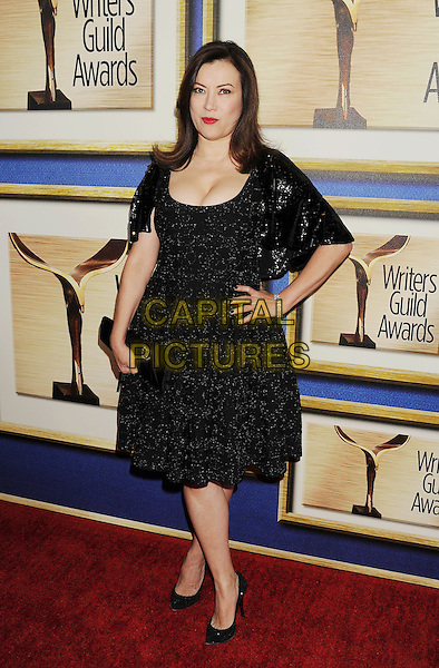 LOS ANGELES, CA- FEBRUARY 01: Actress Jennifer Tilly arrives at the 2014 Writers Guild Awards L.A. Ceremony at JW Marriott Los Angeles at L.A. LIVE on February 1, 2014 in Los Angeles, California.<br /> CAP/ROT/TM<br /> &copy;Tony Michaels/Roth Stock/Capital Pictures