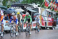 WIELRENNEN: SURHUISTERVEEN: 30-07-2013, Profronde Surhuisterveen, Chris Froome, Bauke Mollema, ©foto Martin de Jong
