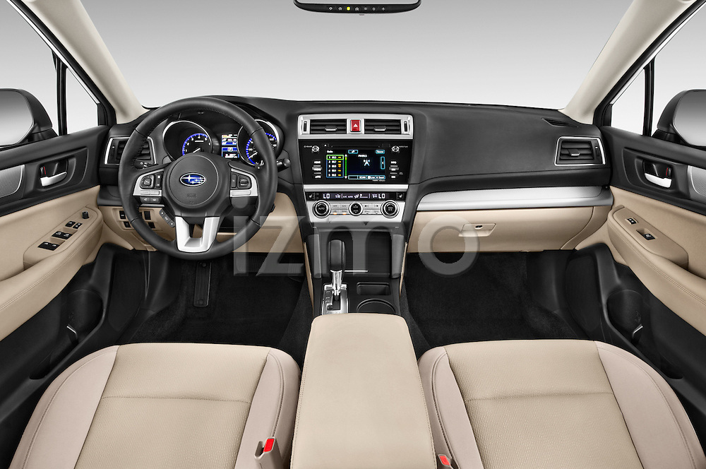 Stock photo of straight dashboard view of a 2015 Subaru Legacy 2.5i Premium 4 Door Sedan Dashboard