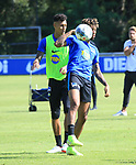 04.09.2019, Sportpark, Berlin, GER, 1.FBL, DFL,, Hertha BSC Training,<br /> DFL, regulations prohibit any use of photographs as image sequences and/or quasi-video<br /> im Bild Sidney Friede (Hertha BSC Berlin #26), Davie Selke (Hertha BSC Berlin #27)<br /> <br />       <br /> Foto © nordphoto / Engler