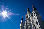 Saint Louis Cathedral in Jackson Square in New Orleans, Louisiana.