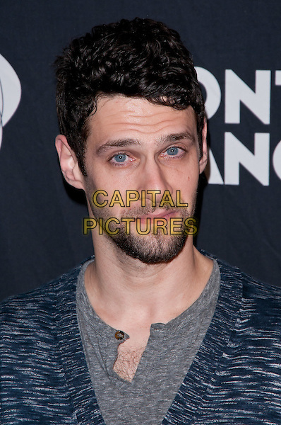 "Justin Bartha.Montblanc Presents The 10th Annual Production of ""The 24 Hour Plays on Broadway"", New York City, NY, USA..November 14th, 2011.headshot portrait blue facial hair beard grey gray.CAP/ADM/CS.©Christopher Smith/AdMedia/Capital Pictures."