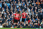 Marcus Rashford of Manchester United celebrates the winning goal during the Barclays Premier League match at The Etihad Stadium. Photo credit should read: Simon Bellis/Sportimage