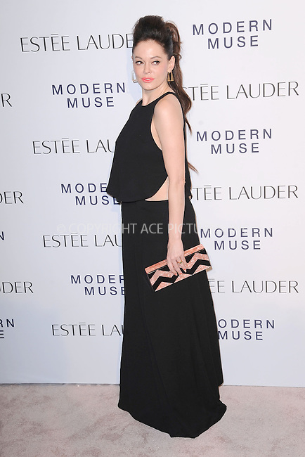 WWW.ACEPIXS.COM<br /> September 12, 2013...New York City<br /> <br /> Rose McGowan attending the Estee Lauder 'Modern Muse' Fragrance Launch Party at the Guggenheim Museum on September 12, 2013 in New York City.<br /> <br /> Please byline: Kristin Callahan/Ace Pictures<br /> <br /> Ace Pictures, Inc: ..tel: (212) 243 8787 or (646) 769 0430..e-mail: info@acepixs.com..web: http://www.acepixs.com
