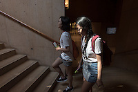 Incoming Occidental College students participate in Oxy Engage with the group LA Icons and tour the Cathedral of Our Lady of the Angels near downtown Los Angeles, on Aug. 24, 2016.<br />