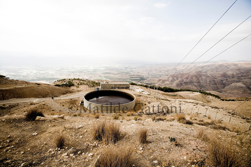 JORDAN - WATER RESERVOIR - FROM THE JORDAN RIVER TO AMMAN THERE ARE 8 RESERVOIR TO ALLOWD THE WATER TO COME UP FROM THE VALLEY TO THE HILLS, THIS IS THE FIFTH STAGE