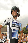 Frank Schleck (LUX) Team Saxo Bank at the sign on before the start Stage 18 of the Tour de France 2009 an individual time trial running 40.5km around Lake Annecy, France. 23rd July 2009 (Photo by Eoin Clarke/NEWSFILE)