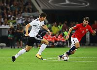 Mario Gomez (Deutschland Germany) gegen Jorgen Skjelvik (Norwegen, Norway) - 04.09.2017: Deutschland vs. Norwegen, Mercedes Benz Arena Stuttgart