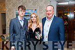 Jerry O'Connor (Mullingar) with Laura Sheehan and James Sheehan (Listowel), enjoying the Kerry Badminton Social held at The Rose Hotel, Tralee on Saturday last.